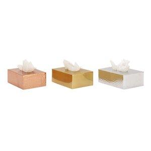 Aluminum Tissue Box Cover (Set of 3)