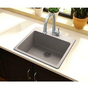 Quartz Classic 25 x 22 Drop-In Kitchen Sink