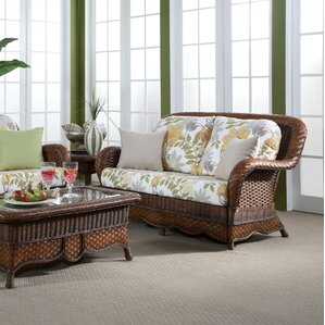 Autumn Morning Bamboozel Plantain Loveseat by South Sea Rattan