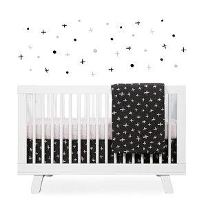 tuxedo monochrome nursery 5 piece crib bedding set