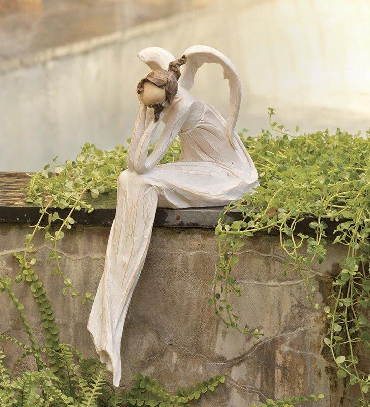 Thinking Angel Garden Statue