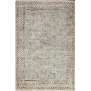 McDonough Hand-Knotted Light Blue Area Rug