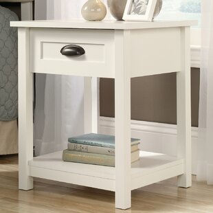 Beau White Lacquer Nightstand | Wayfair