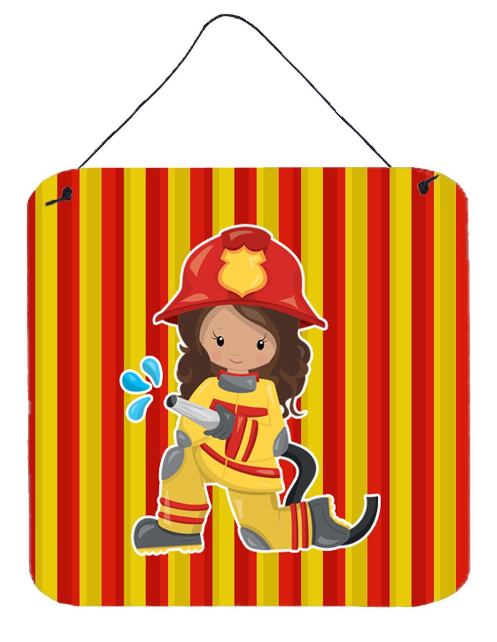 Zoomie Kids Fireman Girl Metal Wall Décor | Wayfair