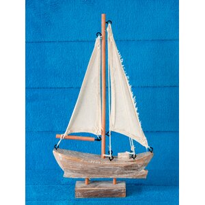 Handcrafted Nautical Wooden Sail Boat
