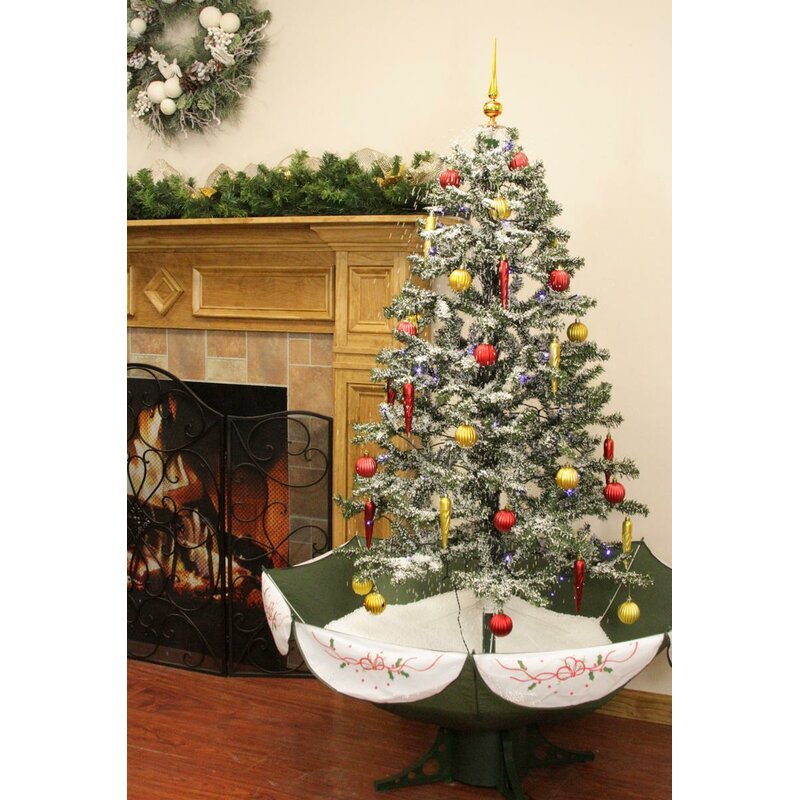 Artificial Christmas Tree Warehouse: Northlight Musical Snowing 5.5' Green/White Pine Trees