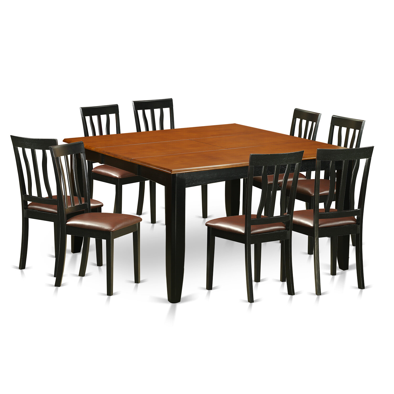 Wooden Importers Parfait 9 Piece Extendable Dining Set | Wayfair