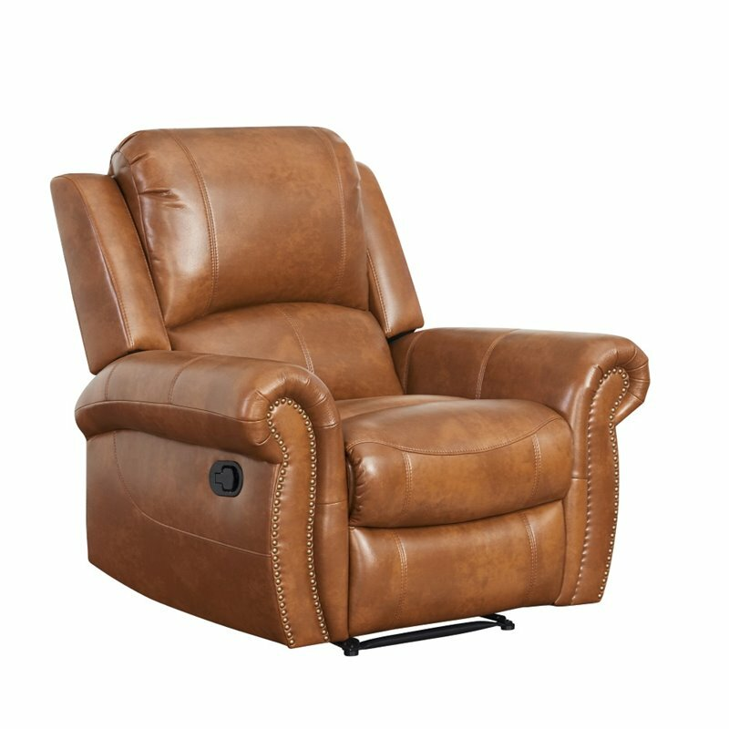 Darby Home Co Bitter Root Leather Recliner U0026 Reviews | Wayfair