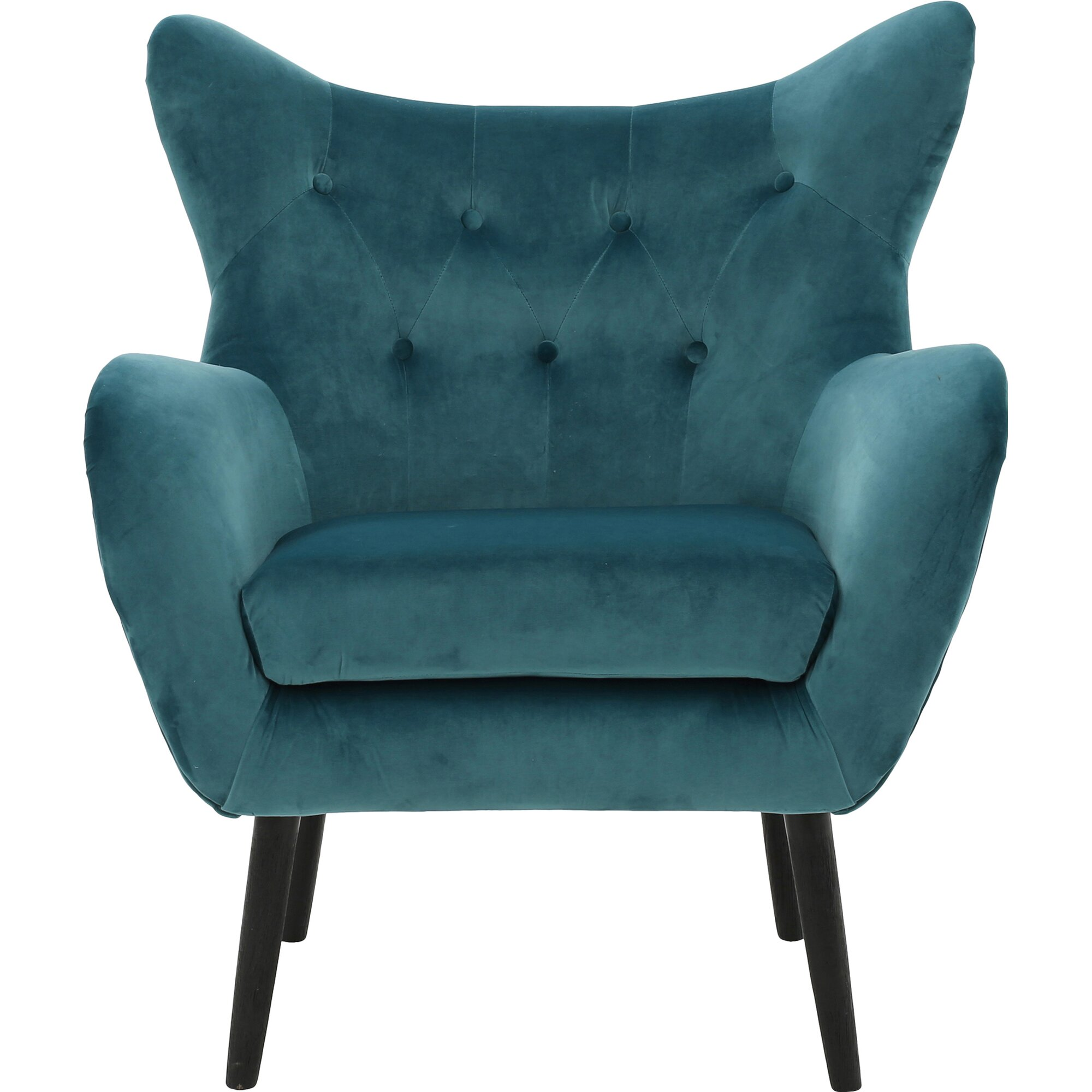 Teal wingback chair - Bouck Wingback Chair