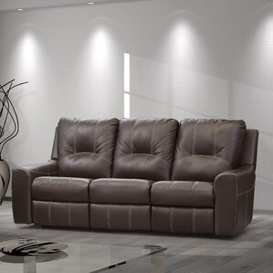 Paige Leather Reclining Sofa by Relaxon