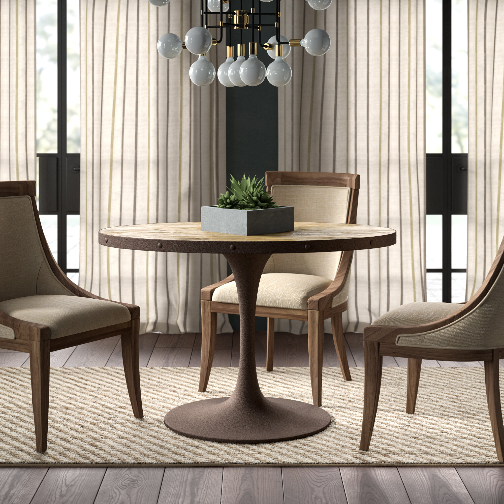 Greyleigh amherst modern metal base dining table wayfair