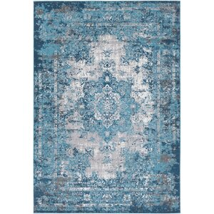 Sharpes Teal Area Rug