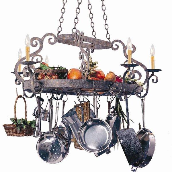 Lighted Hanging Pot Racks You'll Love | Wayfair
