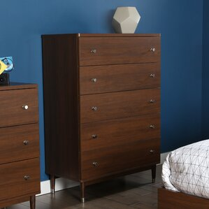 Olly Mid Century Modern 5 Drawer Chest