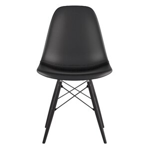 Dowel Genuine Leather Upholstered Dining Chair by NyeKoncept