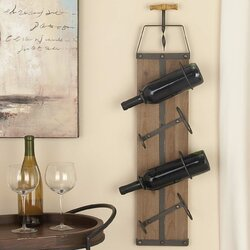 Metal Wall Wine Rack cole & grey wood/metal 4 bottle wall mounted wine rack & reviews