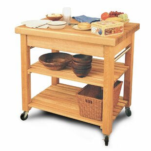 French Country Solid Wood Kitchen Cart