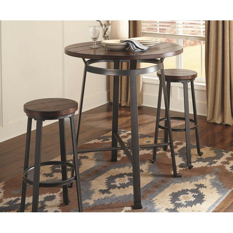 Dube Pub Table Set  sc 1 st  Wayfair & Brayden Studio Dube Pub Table Set u0026 Reviews | Wayfair