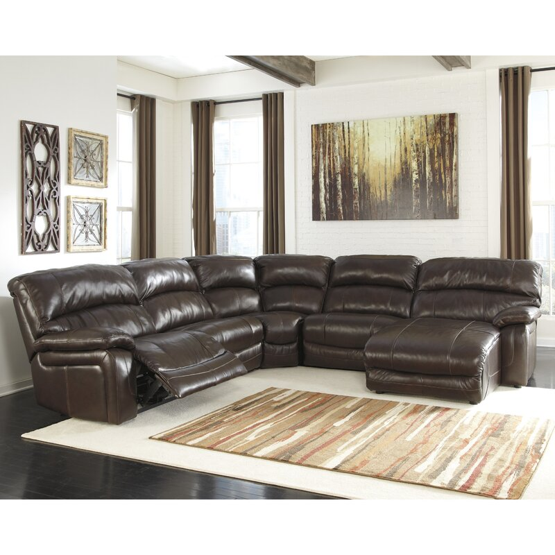 Signature Design by Ashley Dormont Larwill Reclining Sectional ...