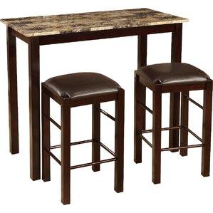 3 Piece Counter Height Wood Dining SetCounter Height Dining Sets You ll Love   Wayfair. Dining Set Wood. Home Design Ideas
