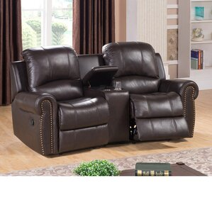 Bloomington Leather Home Theater Recliner by Amax