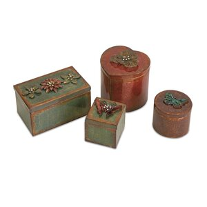 4 Piece Decorative Ellie Box Set