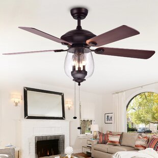 Ceiling fan with bright light wayfair rueben 5 blade ceiling fan mozeypictures Gallery