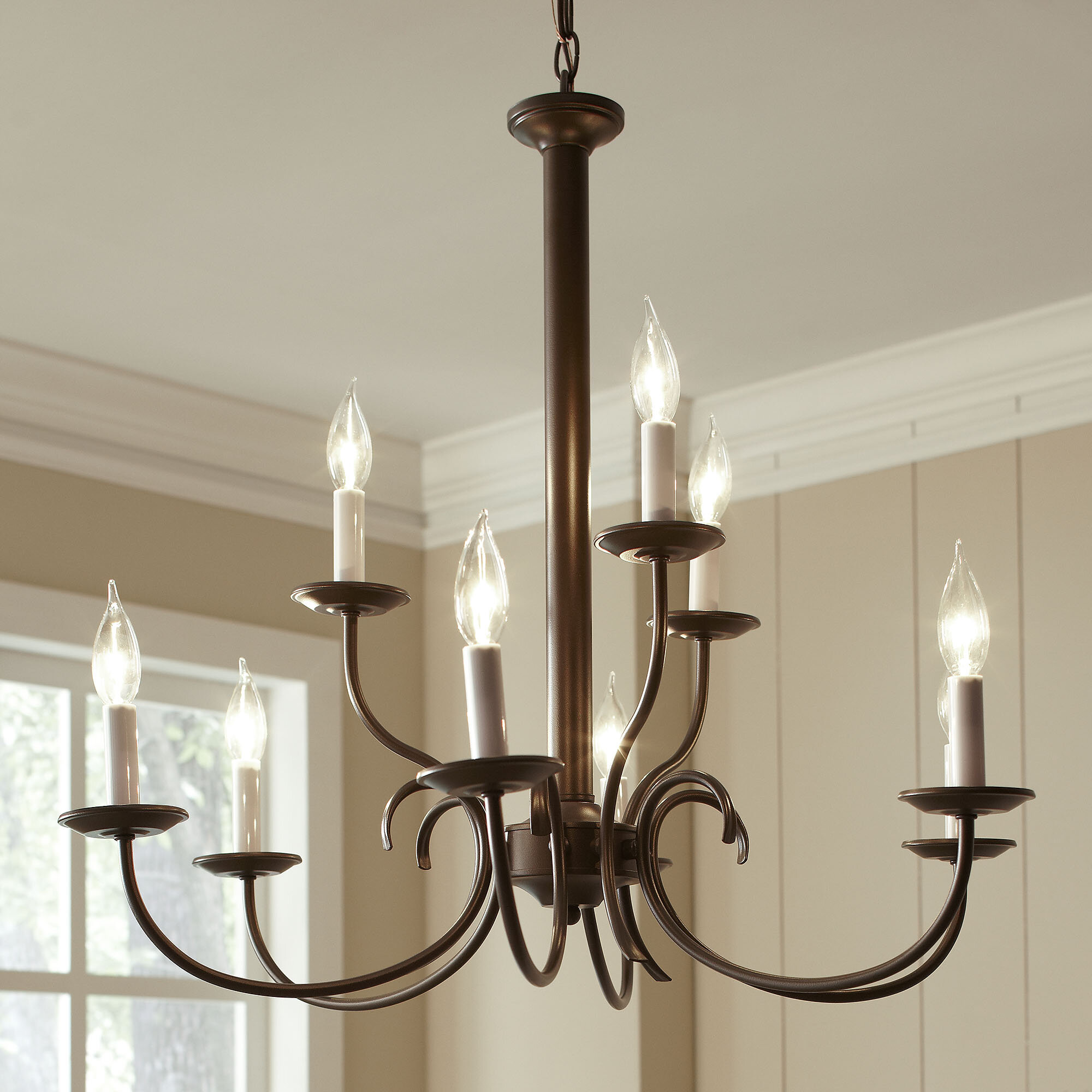 Trevorton 9 Light Candle Style Chandelier & Reviews