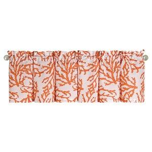 Coral Rod Pocket Valance (Set of 4)