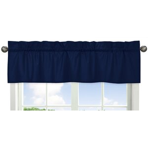 Solid Navy Curtain Valance