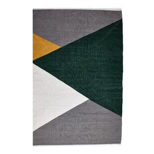 Horizon Handwoven Green/Grey Area Rug by Rug Solid