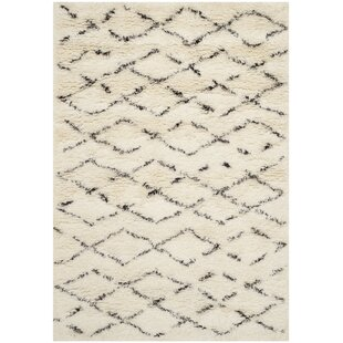 Addison Hand Tufted White/Brown Rug by Laurel Foundry