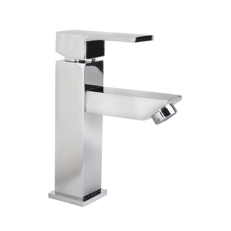 Grace Square Modern Monobloc Single Hole Bathroom Faucet