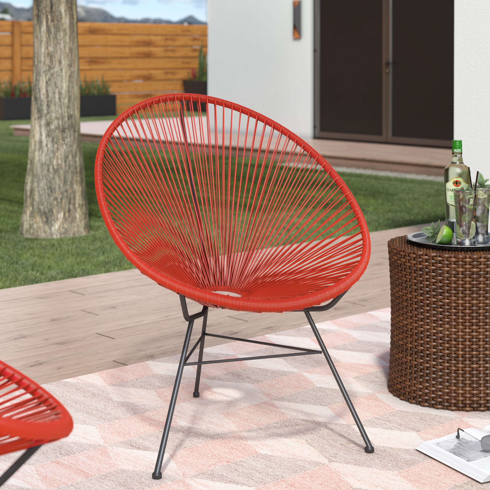 Attirant Ivy Bronx Bradley Acapulco Papasan Outdoor Chair | Wayfair