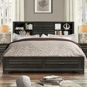 Loiret Wood Storage Platform Bed by Roundhill Furniture