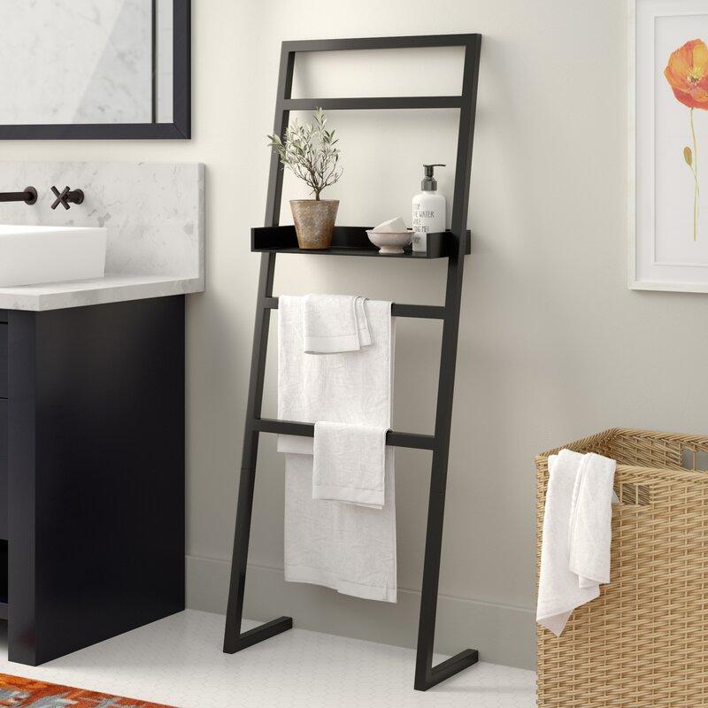 e42e42c4f1b9 Latitude Run McGonigal Decorative Modern Wooden Leaner Ladder Wall Shelf &  Reviews   Wayfair