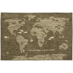 Johnston Bigger Love Gray/Brown Area Rug