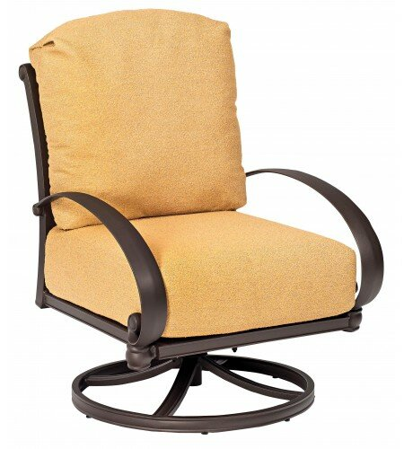 Holland Swivel Rocking Patio Chair With Cushions
