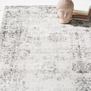 Brandt Machine Woven Gray/Beige Area Rug