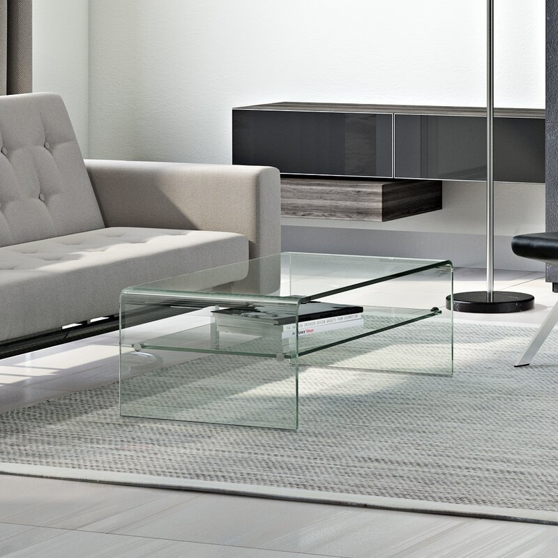 Wade Logan Glass Coffee Table Reviews Wayfair