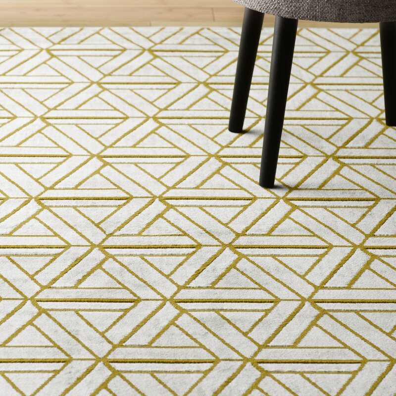 Ginsberg Light Gray Gold Area Rug