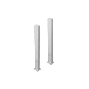 2.5' x 0.27' Galvanized Steel Surface Mount for Vinyl Fence Post (Set of 2)
