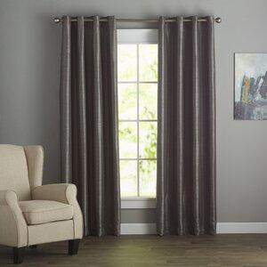 Vaughn Solid Blackout Grommet Single Curtain Panel