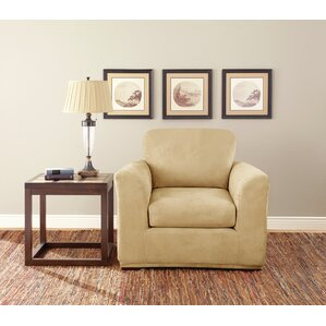 Box Cushion Armchair Slipcover Set by Sure Fit