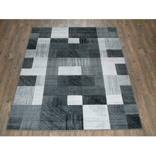 Check Prices Dusty Checkered Gray Area Rug By Ebern Designs