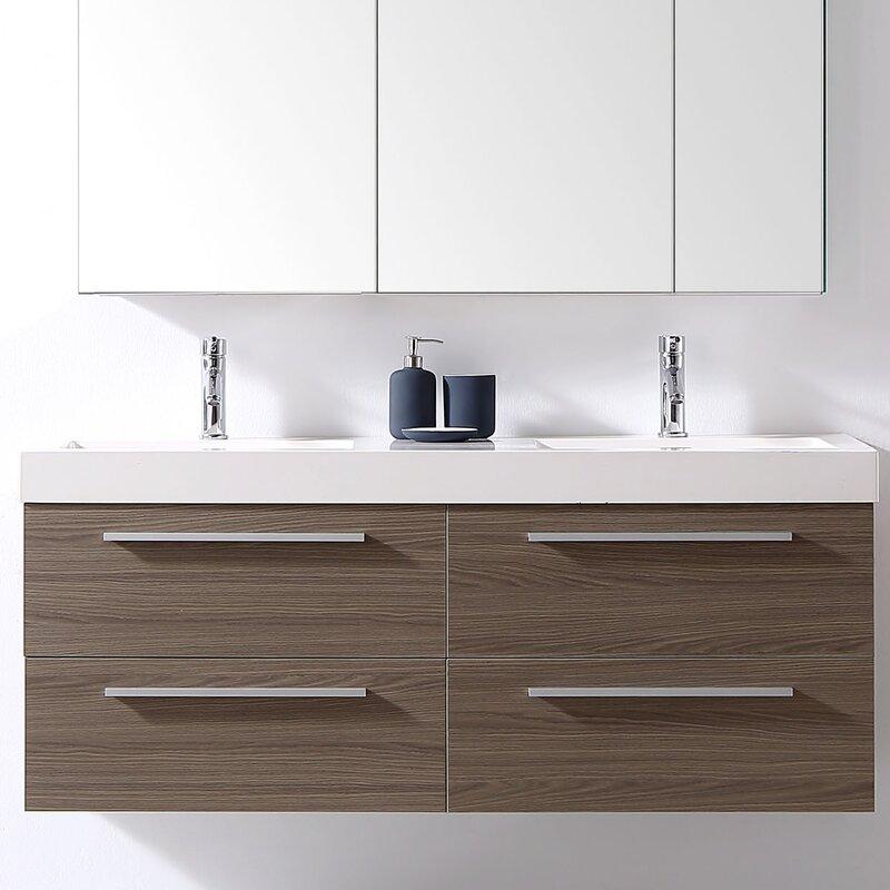 Bathroom Vanity Set. Finley 54  Double Bathroom Vanity Set Reviews AllModern