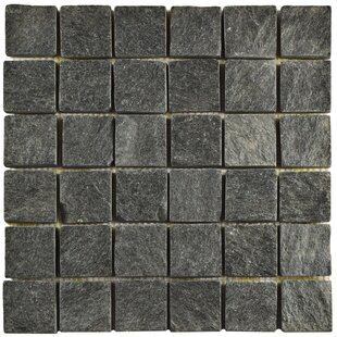 Peak Quad Quartzite 1 88 X Slate Mosaic Tile In Black