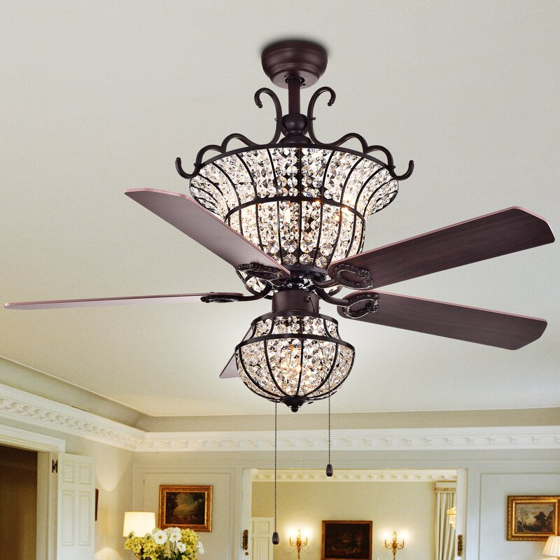 Chandelier Ceiling Fan Combo Wayfair