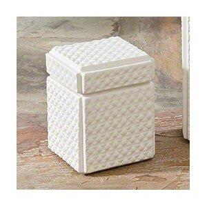 White Ceramic Decorative Box