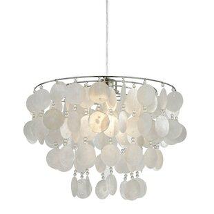 Capiz shell chandelier wayfair capiz shell 35cm metal novelty pendant shade aloadofball Choice Image